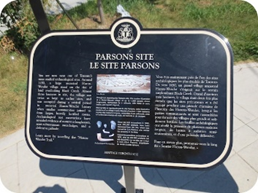 One of three Heritage Toronto plaques along the Huron Wendat trail of the Finch hydro corridor